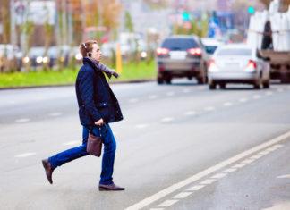 Пешеход на проезжей части