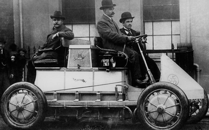 Lohner-Porsche - возможно первый полноприводный автомобиль