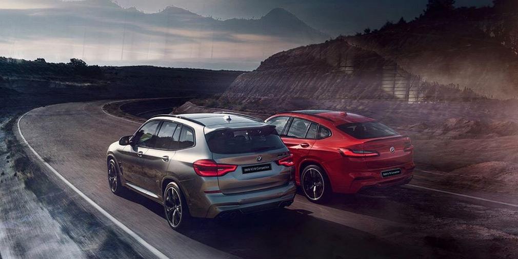 BMW X3 M и X4 M в версии Competition сентябре появятся в России