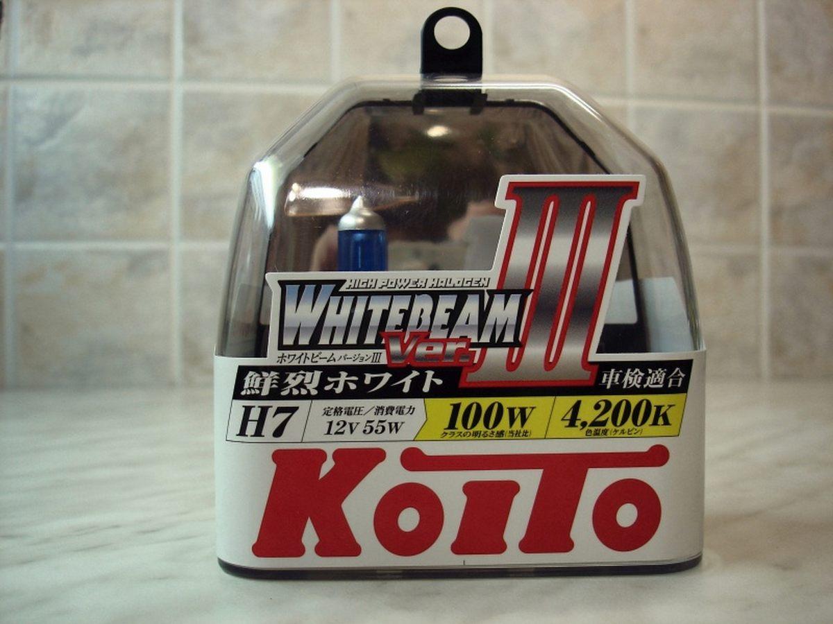 Автолампа H7 12V 55W (100W) (PX26d) 2шт. Whitebeam P0755W Koito